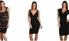 Dar Kesim Siyah Elbise Modelleri ( Seçme Modeller )