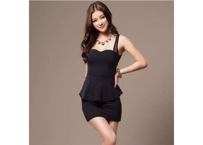dar kesim elbise modelleri 14