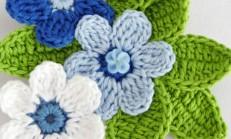 33 Adet Tığ İşi Çiçek Motifleri