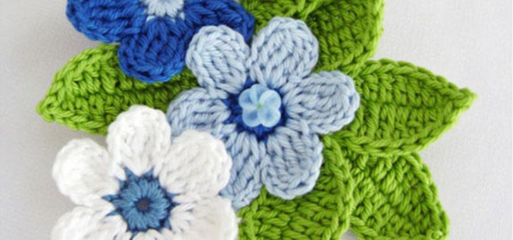 tığ işi güzel çiçek motifleri