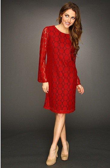 kırmızı dantel elbise modelleri 11