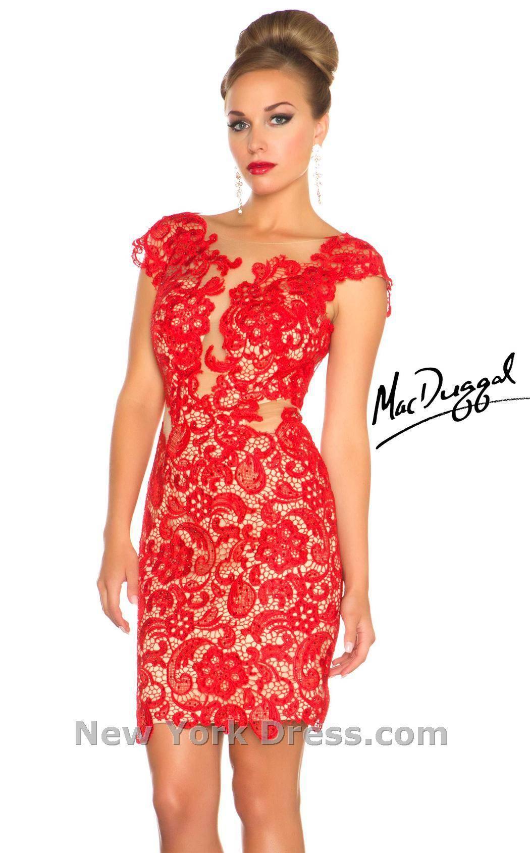 kırmızı dantel elbise modelleri