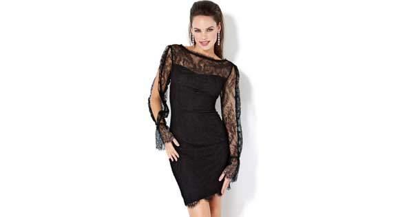 siyah dantelli abiye elbise modelleri