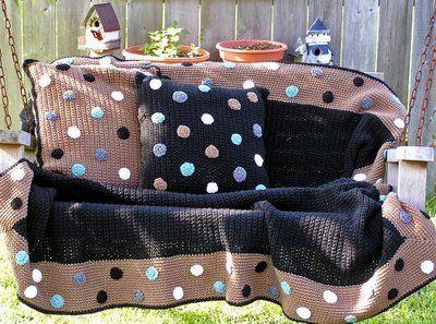 tığ işi yatak örtüsü modelleri 3