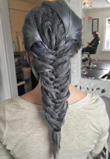 gümüş giri saç boyası
