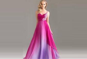 Renkli Kabarık Etekli Nişanlık Elbiseleri